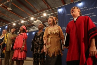 United Nations Singers Perform Near DMZ to Promote Peace