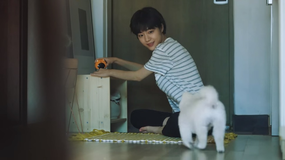 Since its release last month, the video named 'the secret of a lullaby' that depicts a woman taking care of her aging companion animal using LG Uplus's IoT-based home surveillance camera service has struck a chord with the South Korean audience. (Image: LG Uplus's Youtube channel)