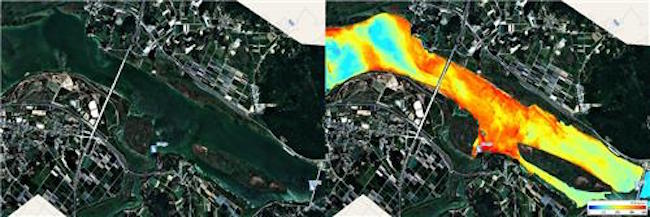 Starting tomorrow, visitors to water.nier.go.kr will be able to view hyperspectral imagery of the Nakdong River taken since 2015.  (Image: Ministry of Environment)