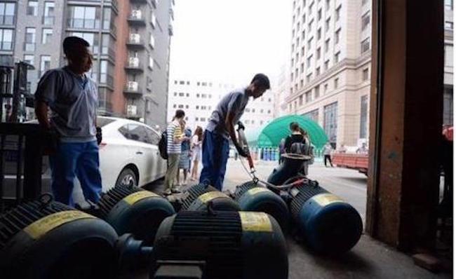 Beijing Confiscates Lotte Mart Generators, Auctions Them Off, Keeps the Returns. (Image: Yonhap)