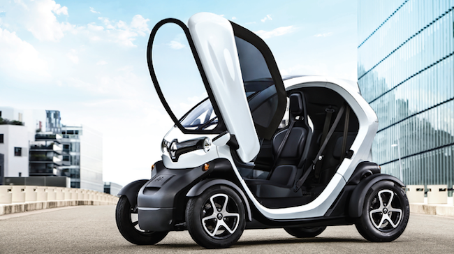 The electric car is one third the size of a standard sedan and is considered to be a far safer ride than a the typical alternative, a scooter. (Image: Renault Samsung)