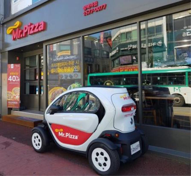 Mr. Pizza to Deliver Using Renault Samsung Twizy at Select Locations