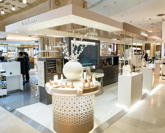 AmorePacific Opens Sulwhasoo Store at Galeries Lafayette Paris