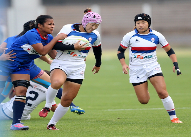 The women's national team will also take the field this weekend and take on Hong Kong, China and Sri Lanka in that order. (Image: Korea Rugby Union)