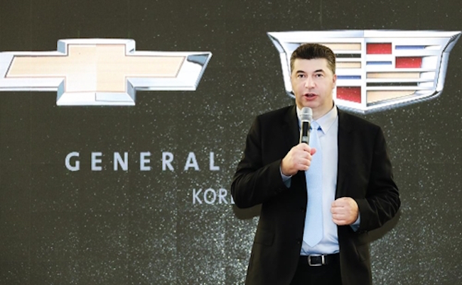 GM Korea President Kaher Kazem addressed concerns regarding a possible pullout from South Korea at the company's headquarters in the Bupyeong District of Incheon on September 6. (Image: GM Korea)