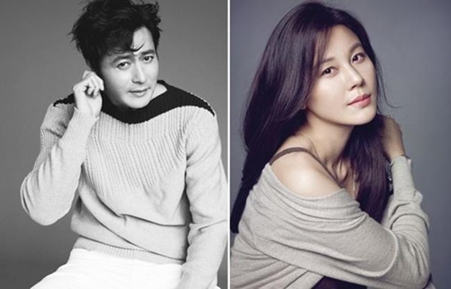 This composite image shows actor Jang Dong-gun (L) and actress Kim Ha-neul. (Image: Yonhap)