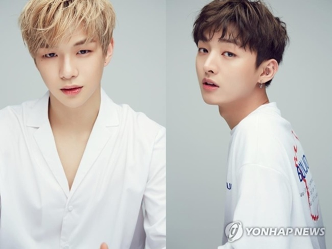 These photos, provided by MMO Entertainment, are of Kang Daniel (L) and Yoon Ji-sung (R). (Image: Yonhap)