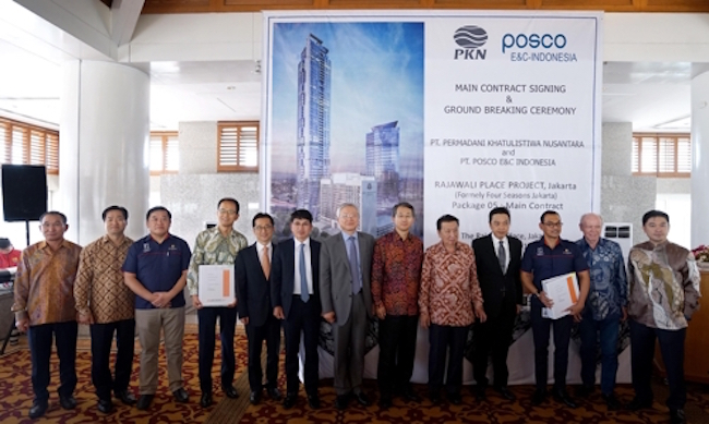 POSCO Engineering & Construction Co. said Friday it has broken ground for two high rises in a central business district in Jakarta. (Image: Yonhap)