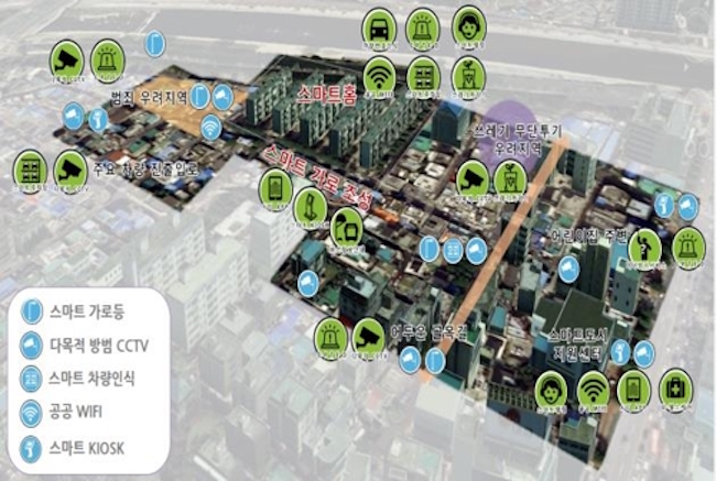 "Another standout proposal is the ""Smart City Model"", which will incorporate the latest in internet and communications technology like energy efficient smart street lamps. (Image: Yonhap)"
