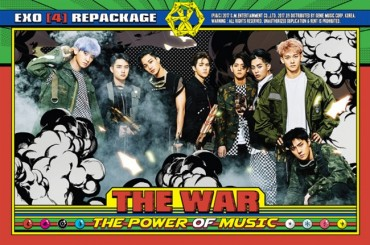 "EXO's Repackaged Edition of ""The War"" Tops 33 iTunes Charts"