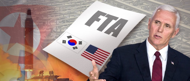 While the alleged development of a hydrogen bomb by North Korea is keeping the military on alert, Donald Trump's allusions to a possible termination of the Korea – U.S. Free Trade Agreement is keeping the nation's economy in a similar state. (Image: Yonhap)