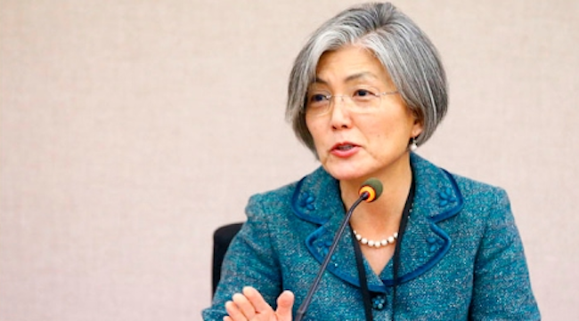 Foreign Affairs Minister Kang made an appearance on YTN News on September 13, in which she discussed a number of topics ranging from the recently declared U.N. sanctions on North Korea to a bizarre controversy over her crop of silver hair. (Image: Yonhap)