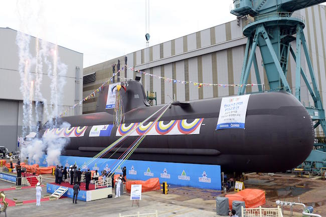 Navy Launches New 1,800-ton Submarine