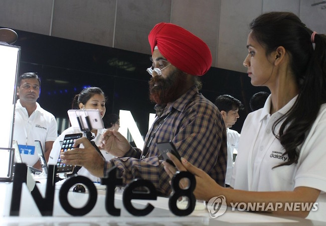 The eyes of the smartphone industry are trained on India with Samsung, Apple and Xiaomi all releasing their latest flagship products within weeks of each other. (Image: Yonhap)