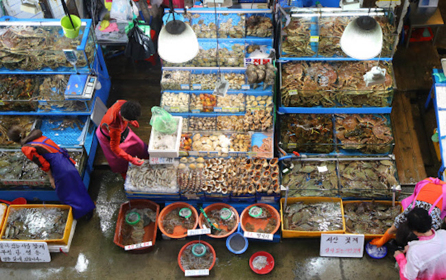 South Korea's imports of seafood rose in the first nine months of this year on the popularity of shrimp and salmon, and a poor squid harvest, the oceans ministry said Tuesday. (Image: Yonhap)