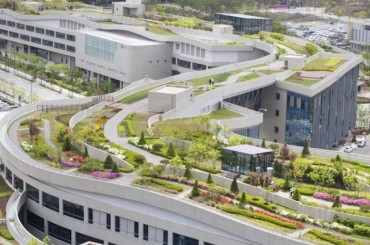 Pyeongchang Torch Relay to Stop by Sejong City's Largest Rooftop Garden in the World