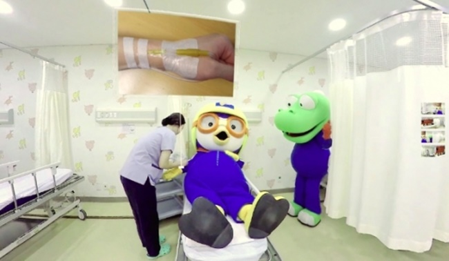 Seoul National University Bundang Hospital has made a virtual reality video explaining a surgical procedure for child patients, as part of efforts to help children relax before going into the operating room. (Image: Iconix Entertainment)