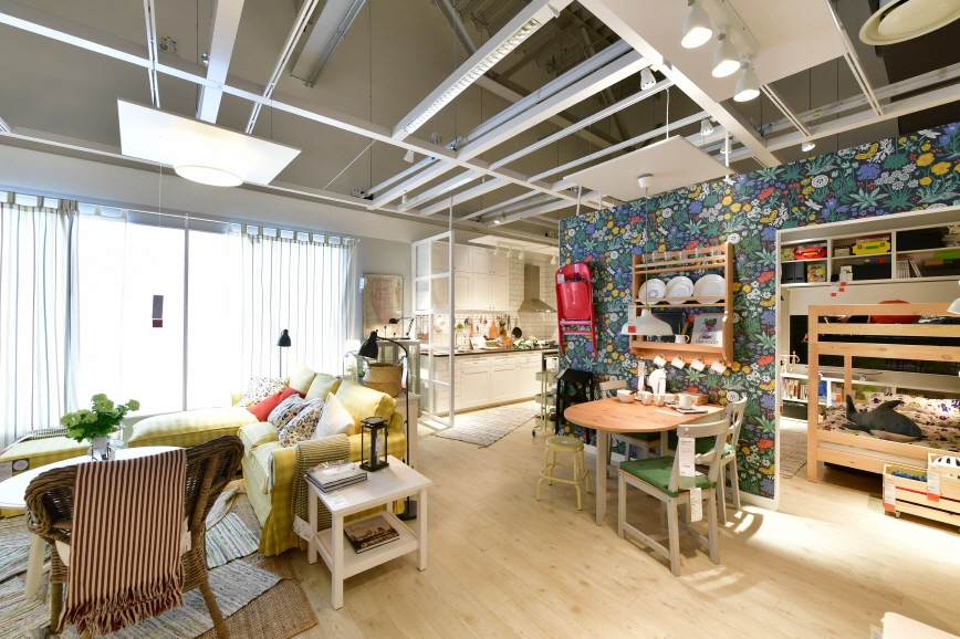 IKEA said it has prepared 42 room-sets in the new store which opened on Oct. 19. (image: IKEA Korea)