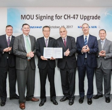 Korean Air, Boeing Sign MOU for Chinook Helicopter Upgrade