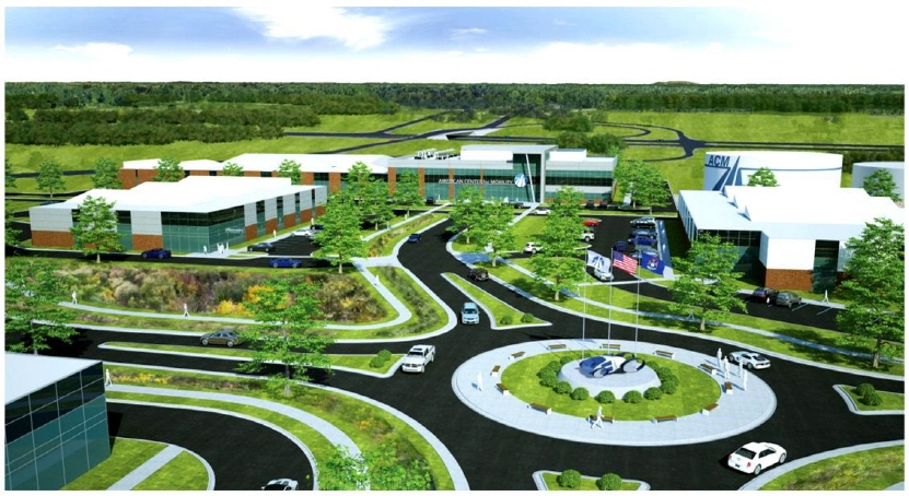 This rendered shows the R&D and test center being built by the American Center for Mobility (ACM) in Ypsilanti Township, Michigan. (image: Hyundai Motor Group)