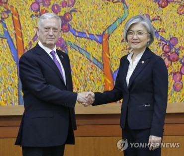 Mattis Pledges Prior Consultation with South Korea in Dealing with North Korea