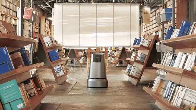 Bookseller Yes24 is trialing an autonomous robot at its secondhand bookstore in Busan, the company said on Tuesday. (Image: Naver Labs)