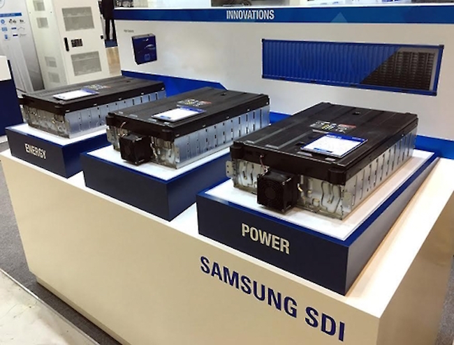 Battery making unit Samsung SDI's stock was priced at 200,800 per share on September 13, but fell to 197,000 on October 19. (Image: Samsung SDI)