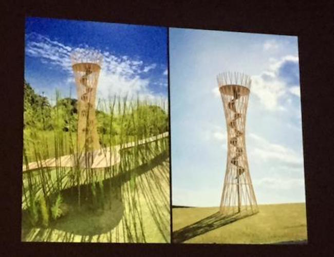 In a decision befitting the spirit of the project, Choi opted to leave five of the 12 structures and one of the three pagodas undesigned, designating them as the canvas for North Korean artists in the future. (Image: Yonhap)