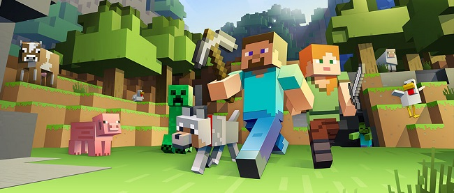 Game broadcasting now accounts for 65% of all the traffic on Afreeca TV, while nearly the half of Kakao TV viewers are game-watchers. (Image: Minecraft Website)