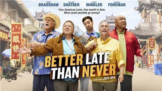"NBC's hit reality TV show ""Better Late Than Never,"" the U.S. adaptation of South Korean program ""Grandpas Over Flowers,"" is set to return with season 2 in January, CJ E&M said Thursday. (Image: Yonhap)"