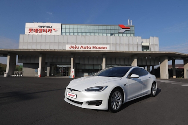 Lotte Rent-A-Car to Offer Tesla Model S in Jeju