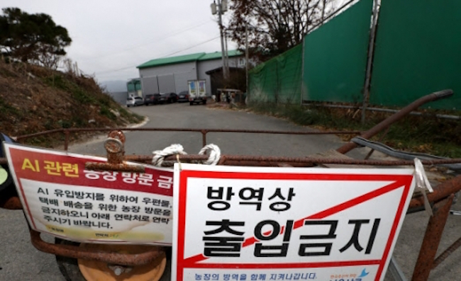 The government has shut down Suncheon Bay and the surrounding area for an indefinite period after the Ministry of Agriculture, Food and Rural Affairs announced yesterday that bird droppings containing a highly pathogenic form of avian influenza had been discovered. (Image: Yonhap)
