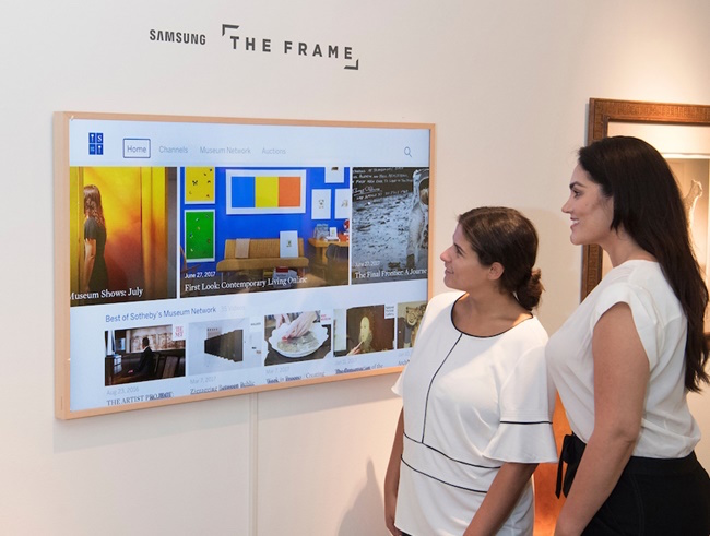 The Frame was released in June and has served as a unique art distribution platform through partnerships with the Prado Museum in Spain, the Albertina in Austria and other art galleries and museums both domestic and international. (Image: Samsung Electronics)
