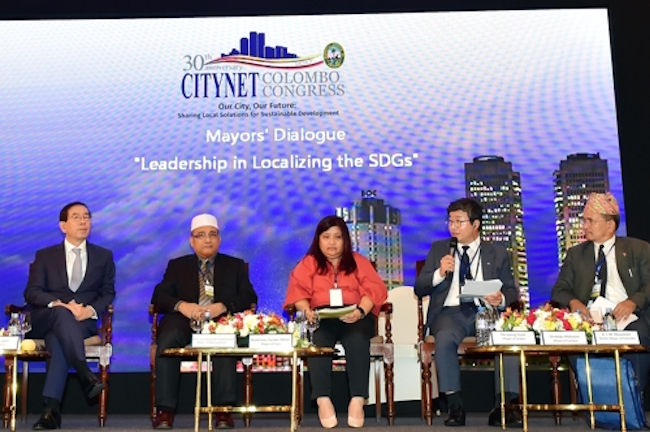 From November 5 through 8, the urban development organization CITYNET held a general meeting in Colombo, Sri Lanka, that was attended by city mayors from across Asia. (Image: Suwon)