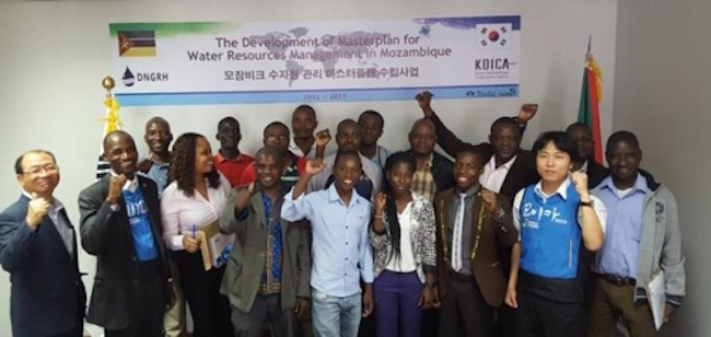 """Titled """"Development of Master Plan for Water Resources Management in Mozambique"""", the agency formerly known as the Korea Overseas Development Corporation revealed its Mozambique office had held its final hearing in the capital Maputo on October 31. (Image: KOICA)"""