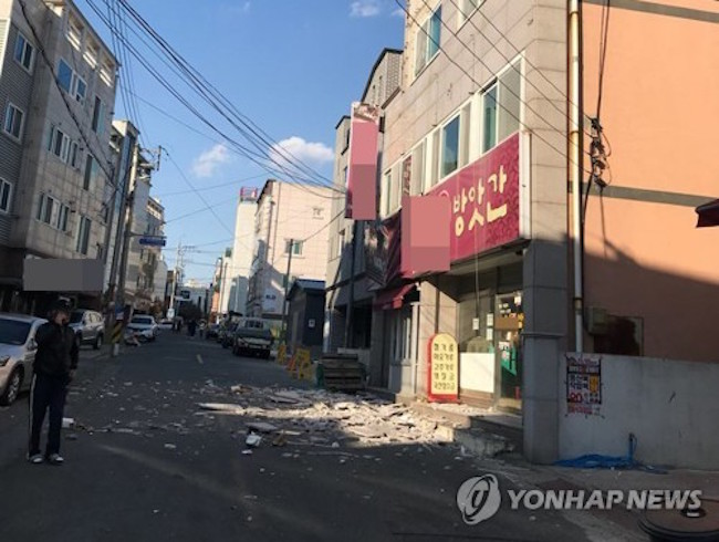 On November 15, the second most powerful earthquake recorded in South Korean history hit the southeastern city of Pohang, stunning the nation. (Image: Yonhap)