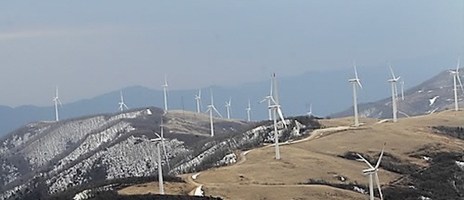 Approximately 40 percent of the nation's wind energy production is generated from the east and southeastern regions of South Korea. (Image: Yonhap)