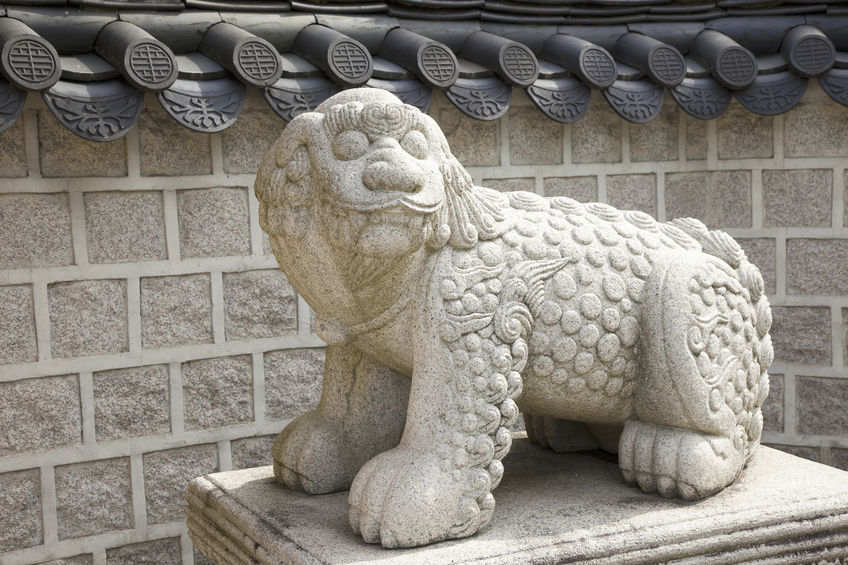 Sculptures of the legendary creature Haetae can be spotted around Seoul, often near historical landmarks and other high-profile locations like the National Assembly Building. (Image: Kobiz Media)