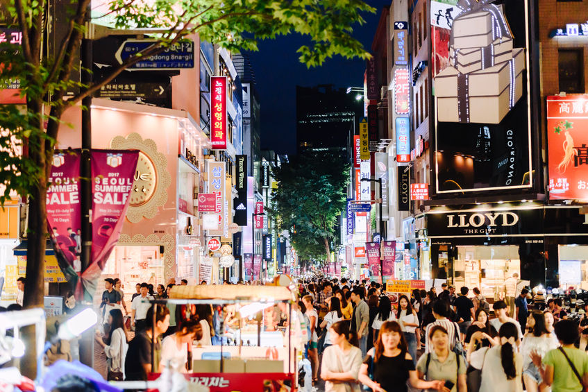 Global property consulting firm Cushman & Wakefield named Myeongdong, one of the biggest shopping districts in the South Korean capital, as the 8th most expensive retail zone in the world in its annual report Main Streets Across the World 2017. (Image: Kobiz Media)