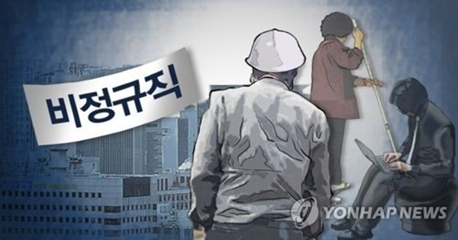 A total of 6.54 million workers were non-regular workers, part-timers and outsourced laborers as of August 2017, up 1.5 percent, or 98,000, from a year ago, according to the data by Statistics Korea. (Image: Yonhap)
