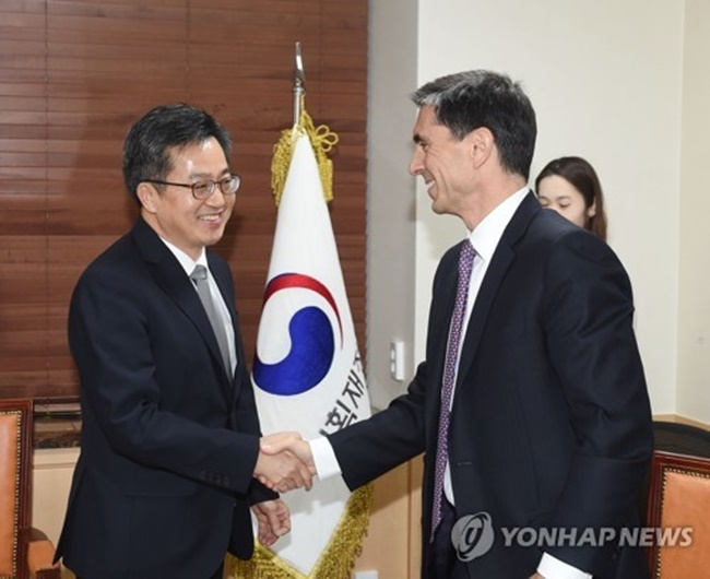 South Korea's Finance Minister Meets with IMF Mission