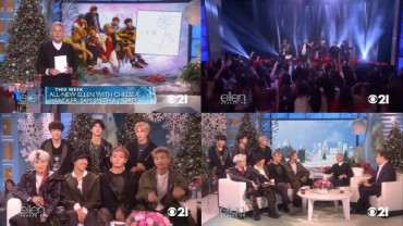K-pop Group BTS Appears on U.S. Talk Show 'Ellen'