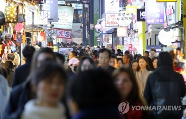 The number of foreigners who visited South Korea from January to October came to 11.11 million, down 23.9 percent on-year, according to the Korea Tourism Organization (KTO). (Image: Yonhap)
