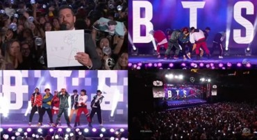 BTS Throws Mini Concert for U.S. Talk Show 'Jimmy Kimmel'