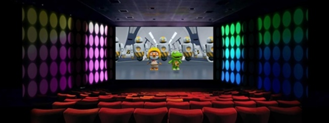The new Pororo movie, which is expected to premiere next month, will receive the ScreenX treatment at South Korean cinema chain CGV. (Image: CGV)