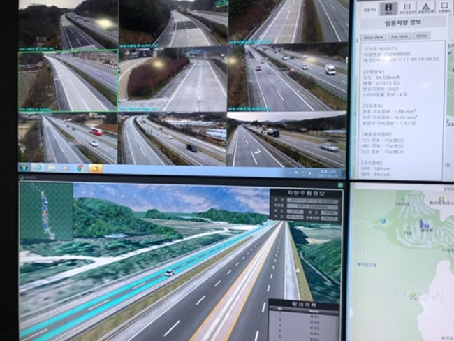 The Ministry of Land, Infrastructure and Transport has announced that it held an international event showcasing smart road technology suited for autonomous vehicles in the presence of a number of international observers. (Image: Yonhap)
