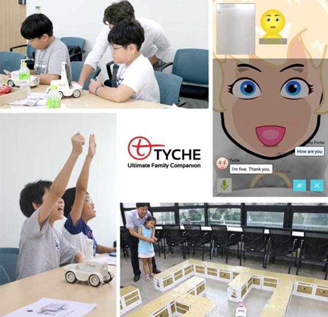South Korean company AIBrain has released Tyche 1.0, an AI robot suited for children. (Image: Korea Electronic Certification Authority)