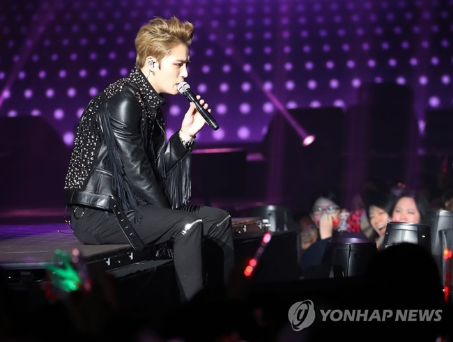 According to C-JeS Entertainment, preorders for 'REBOOT', a set of postage stamps consisting of Jae-joong's pictures, began on Monday and instantly topped HMV's sales chart. (Image: Yonhap)