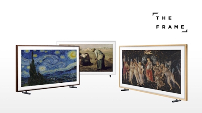 All told, 100 masterpieces have been added to the catalogue and can be displayed through the TV's Art Mode. (Image: Yonhap)
