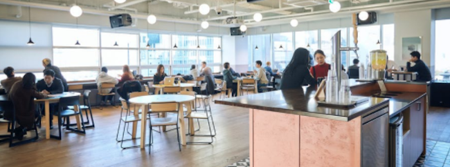 Samsung Electronics America and co-working office space provider WeWork have joined hands to open customer service areas à la Apple Genius Bar, according to an October 30 report from American business magazine Fast Company. (Image: WeWork official website)